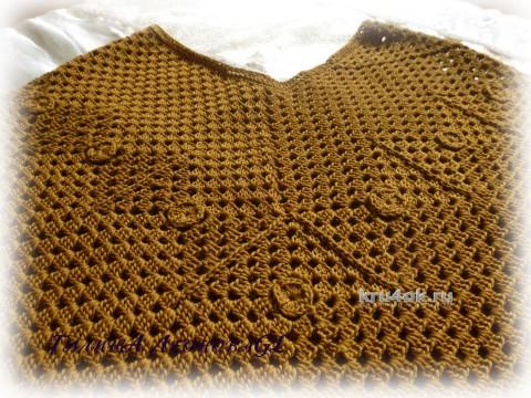 Пончо Золотая листва. Работа Галины Леоновой вязание и схемы вязания