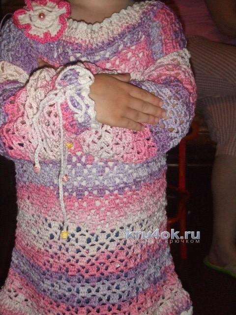 Пуловер летний Розовые сны. Работа Ольги вязание и схемы вязания
