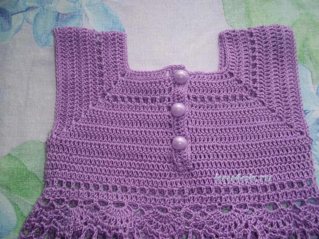 схема вязания летнего сарафанчика для девочки 2 лет