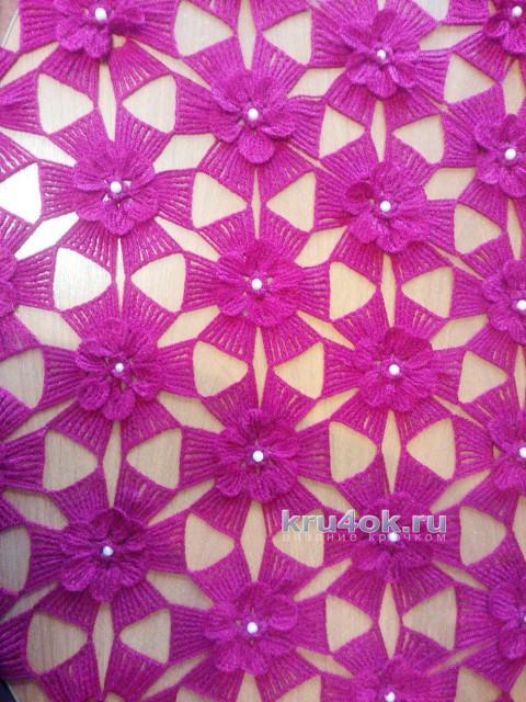 Шаль Дивный сад. Работа Марины Михайловны вязание и схемы вязания