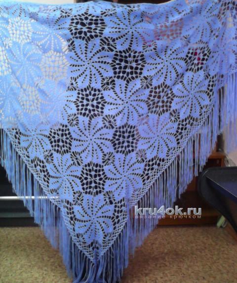 Шаль из мотивов. Работа Марины Михайловны вязание и схемы вязания