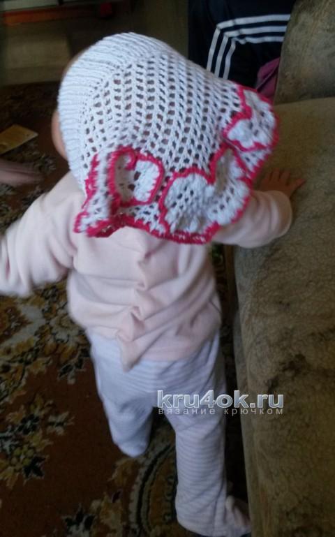 Вязаная косынка для девочки. Работа Ани вязание и схемы вязания