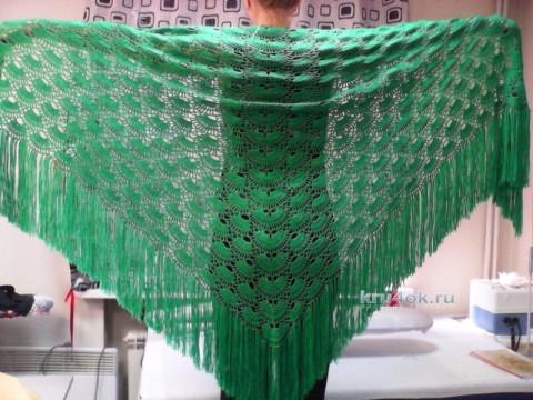 Вязаная крючком шаль. Работа Марины Михайловны вязание и схемы вязания
