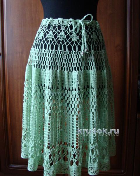 Вязаная крючком юбка. Работа Марии вязание и схемы вязания