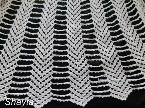 Вязаная крючком юбка. Работа Оксаны Усмановой вязание и схемы вязания