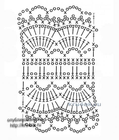 Вязаное детское платье. Работа Ирины Стильник вязание и схемы вязания