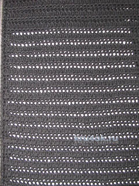 Вязаный крючком кардиган. Работа Арины вязание и схемы вязания