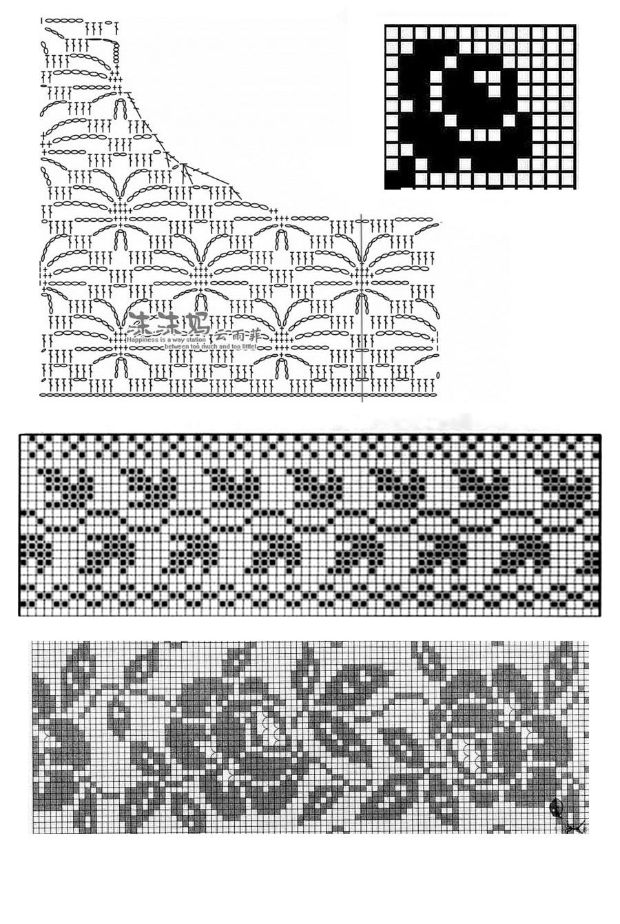 Вязание крючком филейное платья розами с описанием и схемами 2