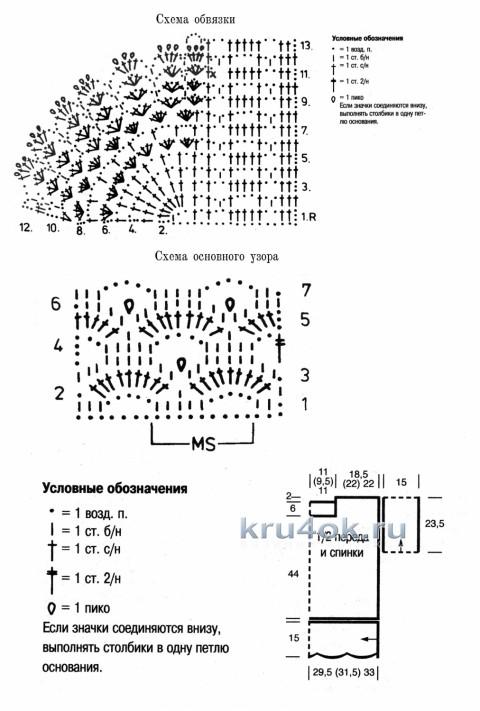 Ажурный джемпер. Работа Елены Мерцаловой вязание и схемы вязания