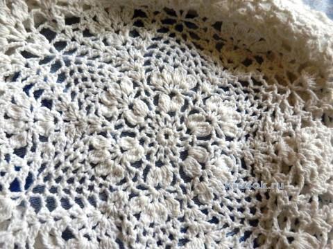 Берет крючком. Работа Елены Мерцаловой вязание и схемы вязания