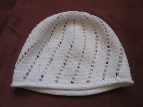 Детская шапочка крючком. Работа Ирины вязание и схемы вязания