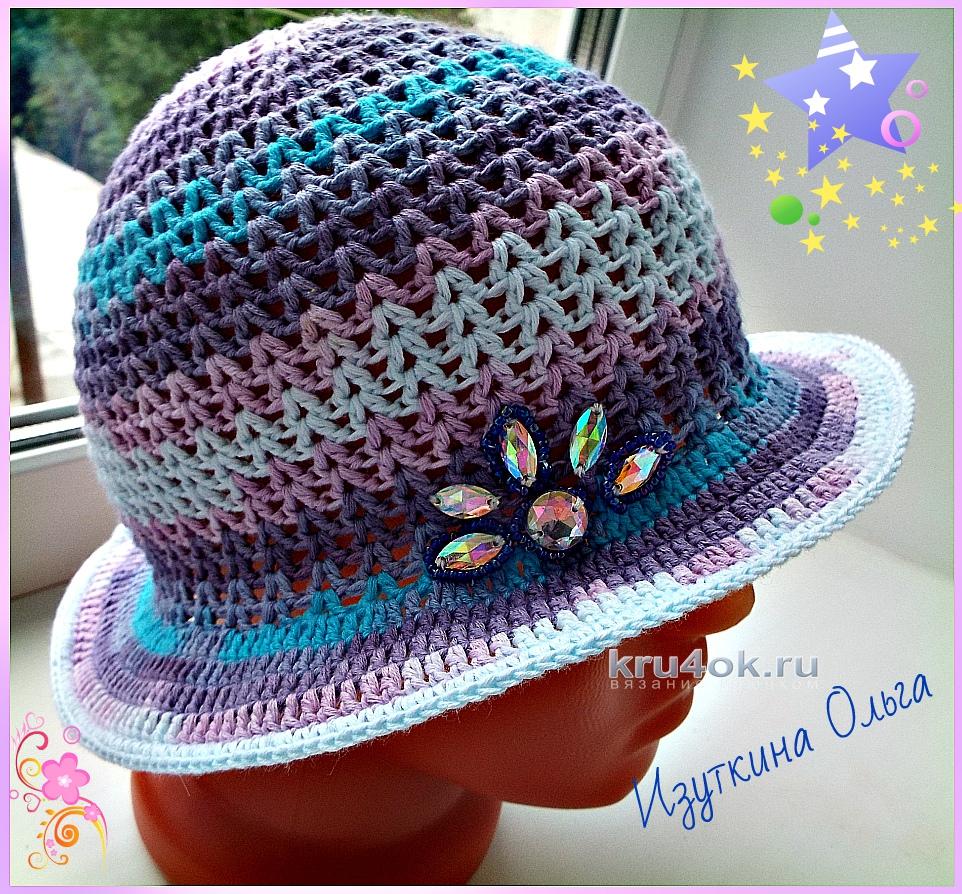 летние шапочки для детей крючком работы ольги изуткиной