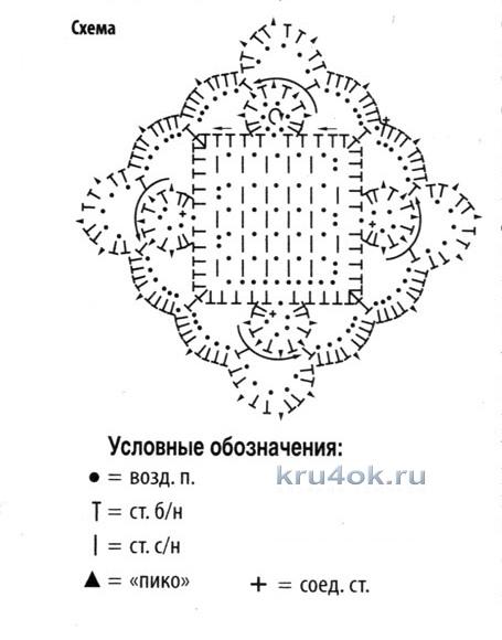 Летний топ из мотивов. Работа Ирины вязание и схемы вязания