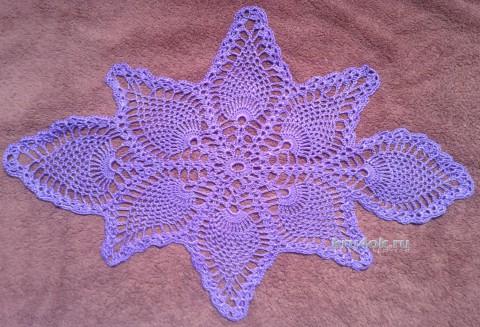 Овальная салфетка. Работа Галины Коржуновой вязание и схемы вязания