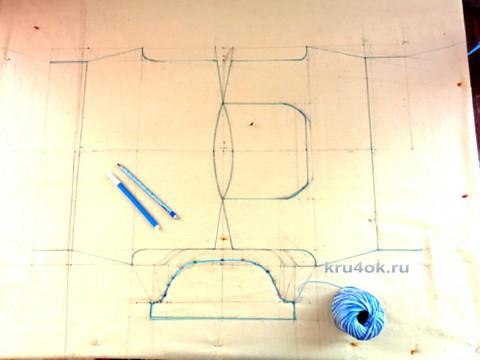 Платье крючком. Работа Надежды Лавровой вязание и схемы вязания