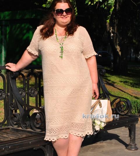 Платье Розы. Работа Ирины вязание и схемы вязания