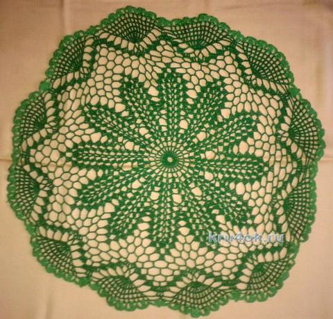 Салфетка крючком. Работа Галины Коржуновой вязание и схемы вязания