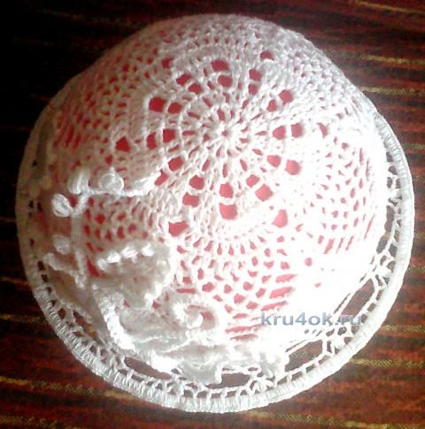 Шляпка для девочки. Работа Нины Колотило вязание и схемы вязания