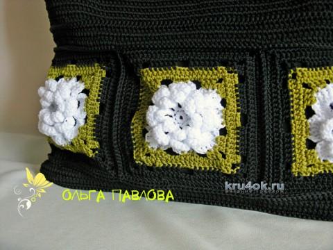 Сумочка Гардения. Работа Ольги Павловой вязание и схемы вязания
