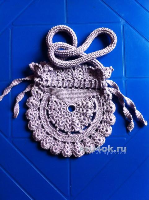 Летняя круглая сумка крючком от Татианы
