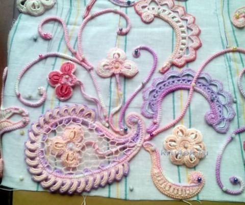 Вязаная кофточка. Работа Светланы вязание и схемы вязания