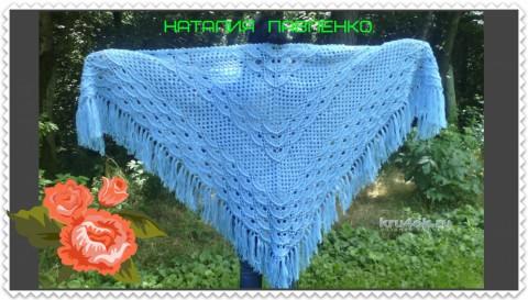 Вязаная шаль. Работа Наталии Павленко вязание и схемы вязания