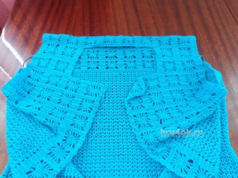 Вязаное крючком платье. Работа Надежды Лавровой вязание и схемы вязания