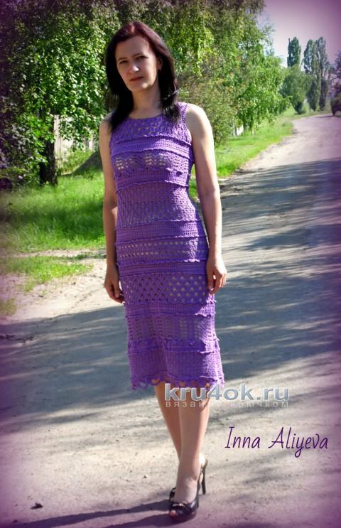 Вязаное крючком платье ажурное Goddess
