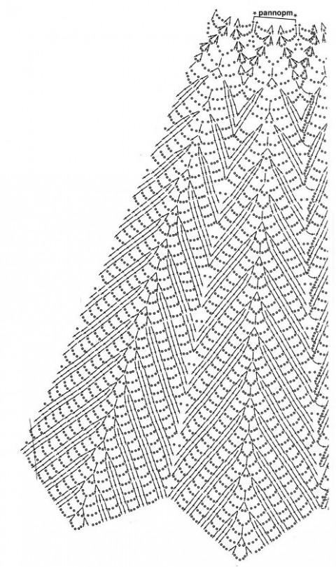 Схемы вязания платья крючком