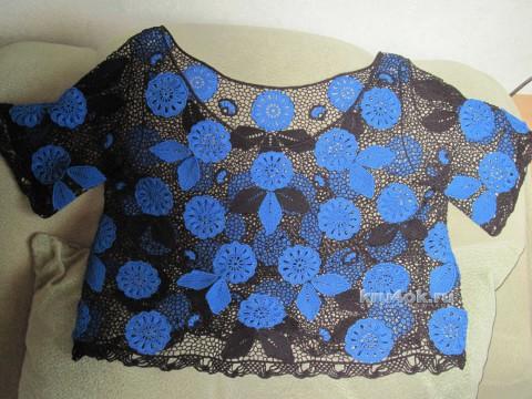 Блуза в технике ирландское кружево. Работа Любови вязание и схемы вязания