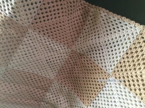 Детский плед крючком. Работа Пелагеи вязание и схемы вязания