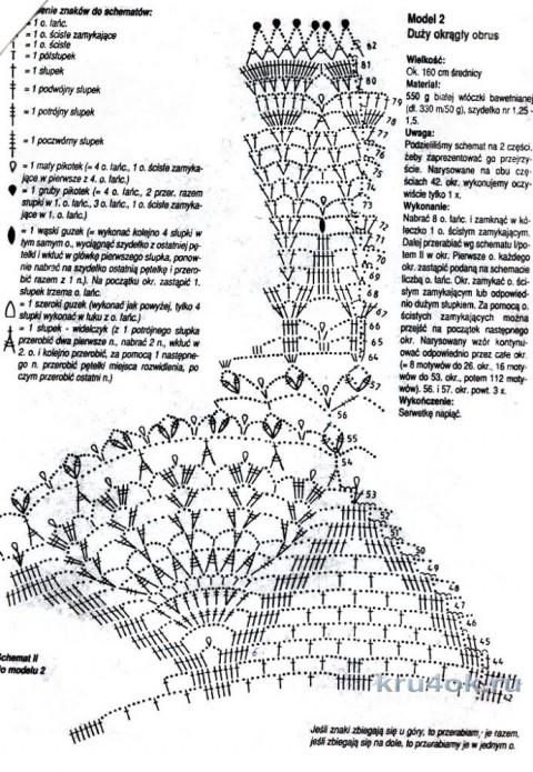 Голубая скатерть. Работа Елены Мерцаловой вязание и схемы вязания