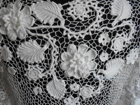 Кофточка Эдеьвейс. Работа Светланы вязание и схемы вязания