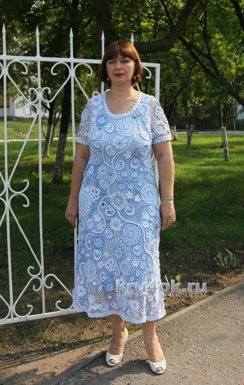 Летнее платье Снежные цветы. Работа Светланы Шевченко (Sova Fotina) вязание и схемы вязания