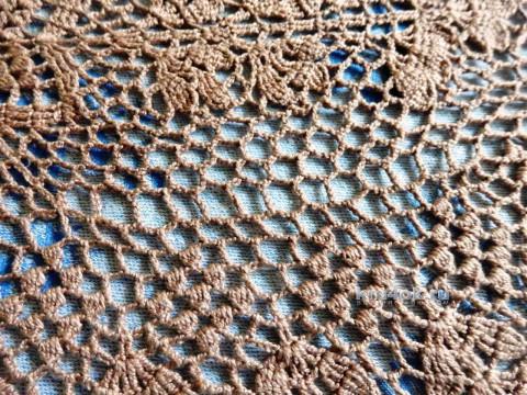 Овальная салфетка. Работа Елены Мерцаловой вязание и схемы вязания