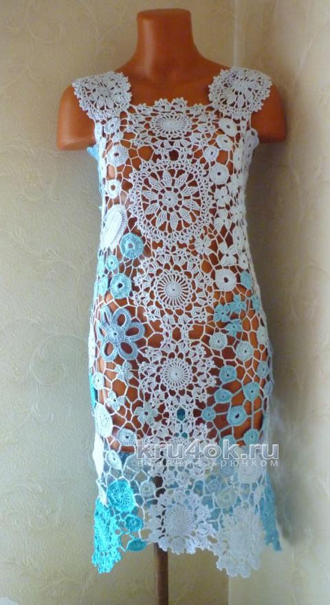 Платье Лаурита. Работа Олеси Петровой вязание и схемы вязания