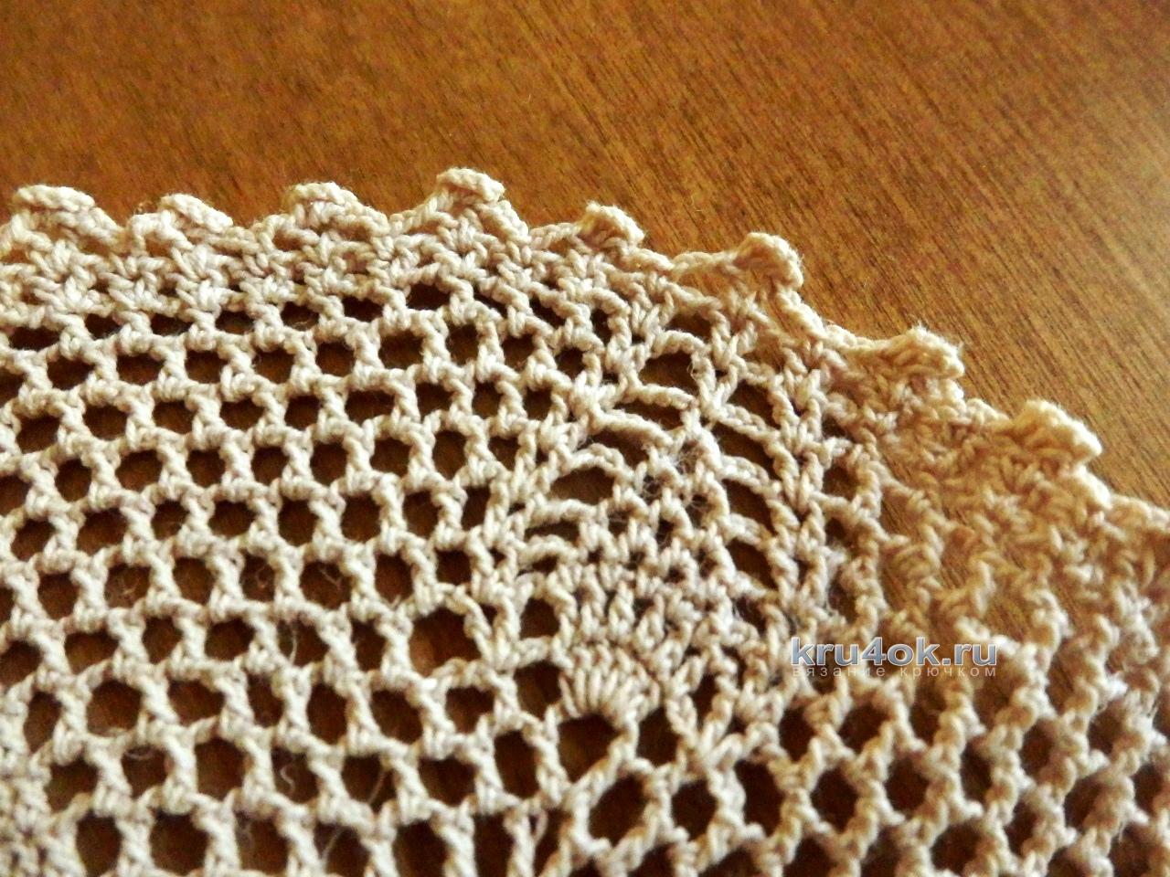 ажурное вязание из катушечных ниток
