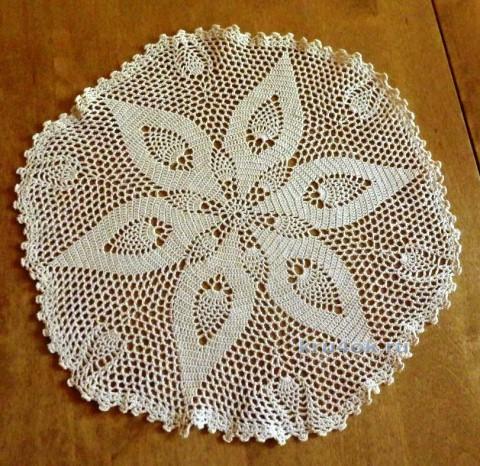 Салфкетка крючком. Работа Елены Мерцаловой вязание и схемы вязания