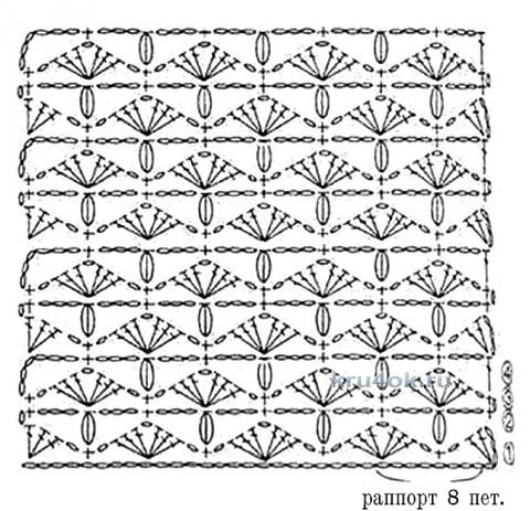 Шарф - снуд крючком. Работа Анны Лев вязание и схемы вязания