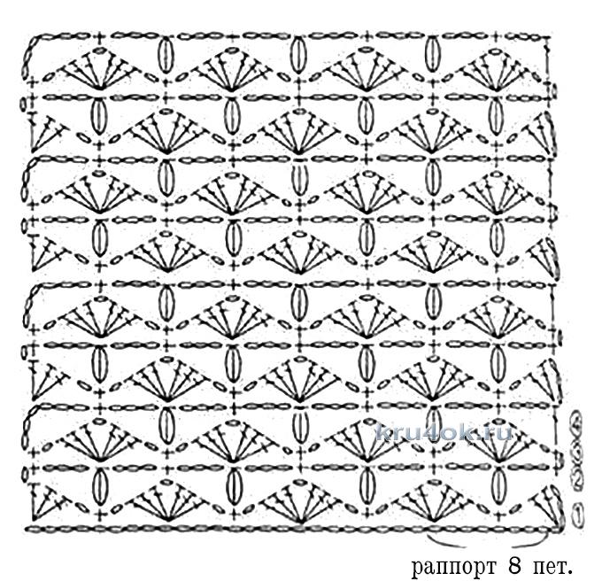 схемы вязания шарфа крючком схемы