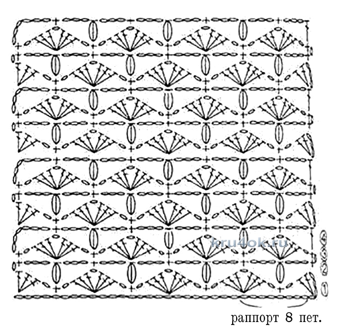 Вязание крючком снуда схема 58