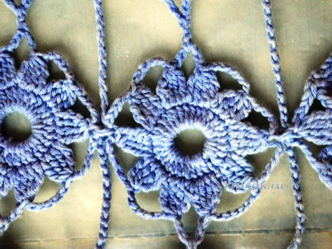 Туника крючком. Работа Елены Мерцаловой вязание и схемы вязания