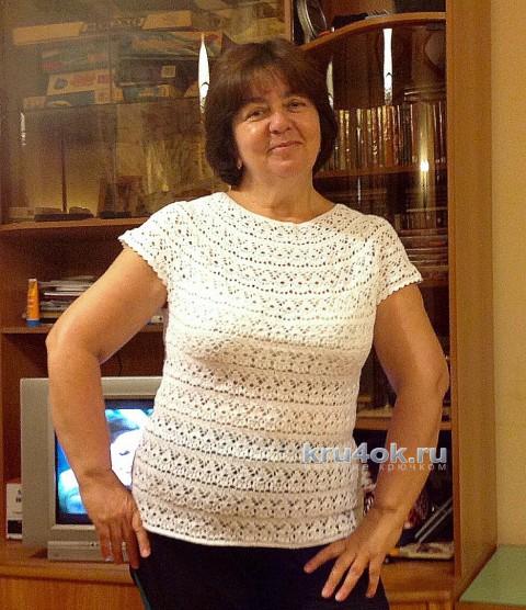 Вязаная летняя кофточка. Работа Татьяны Ивановой вязание и схемы вязания