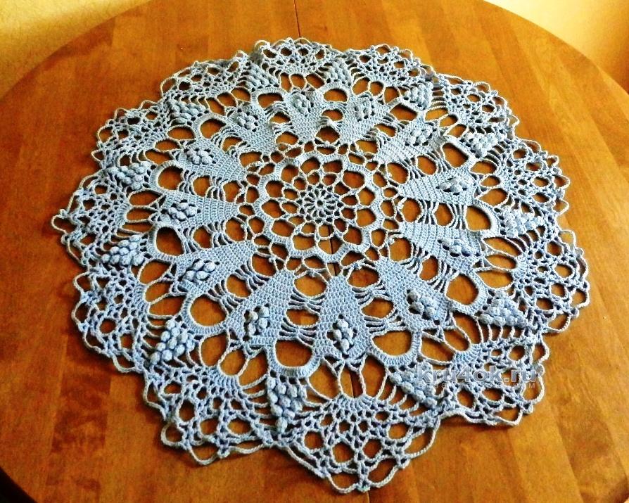 Салфетки вязание с материалом