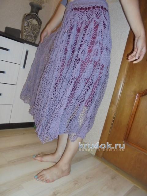 Вязаная юбка. Работа Татьяны Ивановны вязание и схемы вязания
