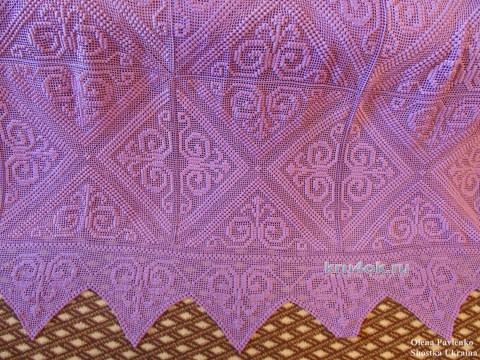 Вязаное покрывало Полтавчанка. Работа Елены Павленко вязание и схемы вязания