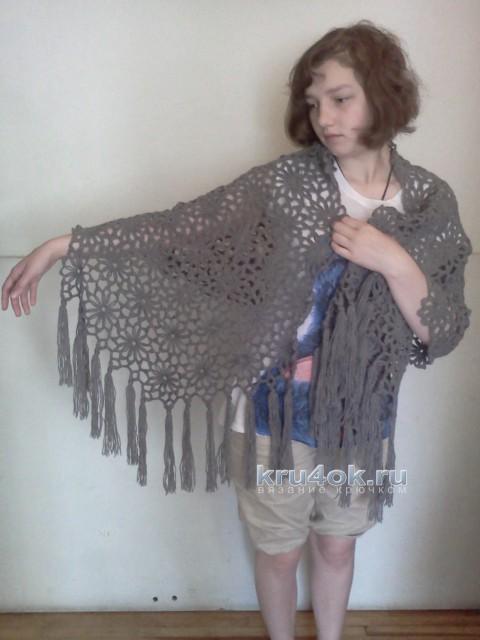 Вязаный палантин. Работы Снежаны. вязание и схемы вязания