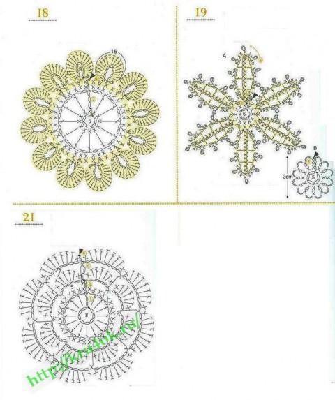 схемы вязания блузки
