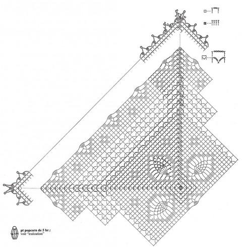 схемы вязания ажурной туники