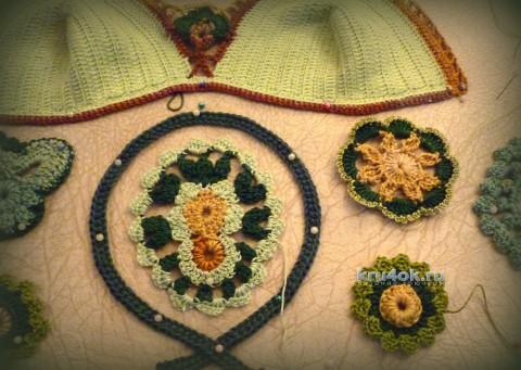 Авторская работа - платье Лесная нимфа. Работа Олеси Петровой вязание и схемы вязания